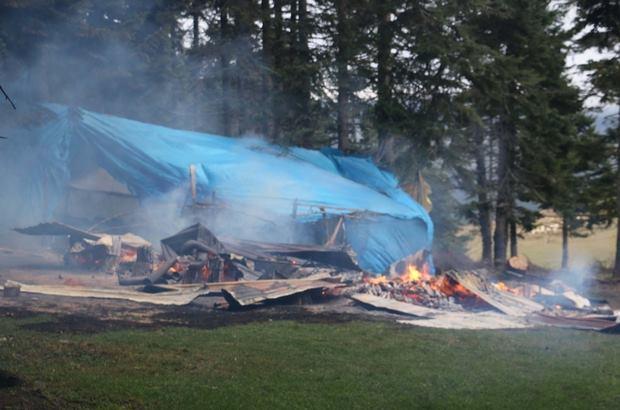 Bolu'da Yayla Evinde Yangın